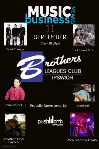 Music mean business - Pushworth Industry night @ Brothers Leagues Club Ipswich | Raceview | Queensland | Australia